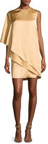 Ralph Lauren Kayla Draped One-Shoulder Dress, Sand