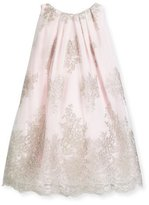 Helena Sleeveless Embroidered Tulle Shift Dress, Pink, Size 4-6
