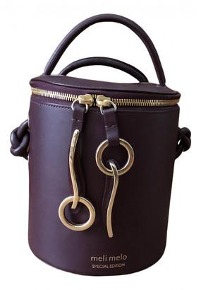 Meli-Melo Burgundy Leather Handbags