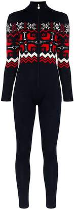 Perfect Moment Nordic Fair Isle pattern ski jumpsuit