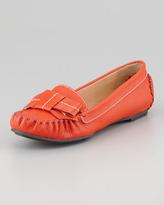Kate Spade Willie Tumbled Leather Loafer, Orange