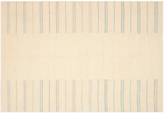 Ralph Lauren Home Sagaponeck Stripe Patch Rug sky blue/beige