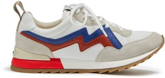 Mulberry MY-1 Flash Lace-up Sneaker White, Blue and Red Mesh and Soft Lamb Nappa