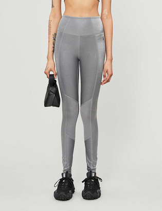 Good American Shiny high-rise stretch-jersey leggings