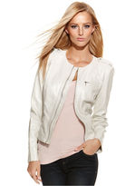 INC International Concepts Snakeskin-Embossed Faux-Leather Jacket