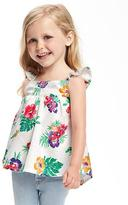 Old Navy Floral Flutter-Sleeve Top for Toddler