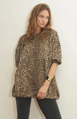 Ragdoll LA SUPER OVERSIZED SWEATSHIRT Brown Leopard
