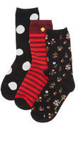 Kate Spade In Bloom Floral 3 Pack Sock Set