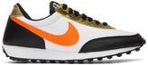 Nike White and Orange Daybreak QS Low Sneakers