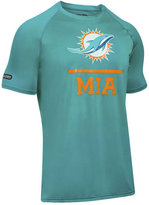 Under Armour Men's Miami Dolphins Lockup Tech T-Shirt