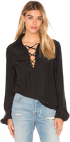 Frame Le Lace Up Blouse