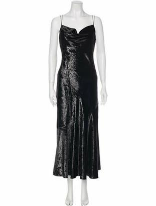 Rachel Zoe Cowl Neck Long Dress w/ Tags Black