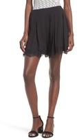Leith Women's High Rise Lace Trim Shorts