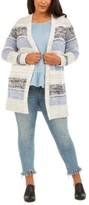 Style&Co. Style & Co Plus Size Striped Texture Cardigan, Created For Macy's