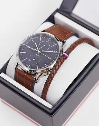 Tommy Hilfiger watch gift set in brown 2770095
