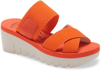 Fly London Yabo Platform Slide Sandal