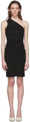 Rosetta Getty Black One Shoulder Dress