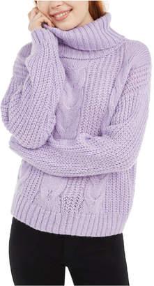 No Comment Juniors' Metallic Turtleneck Sweater