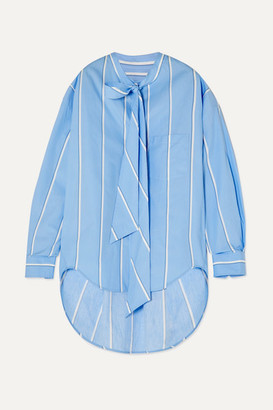 Balenciaga New Swing Printed Cotton-poplin Shirt - Blue