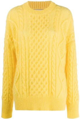 Laneus Relaxed Cable Knit Sweater