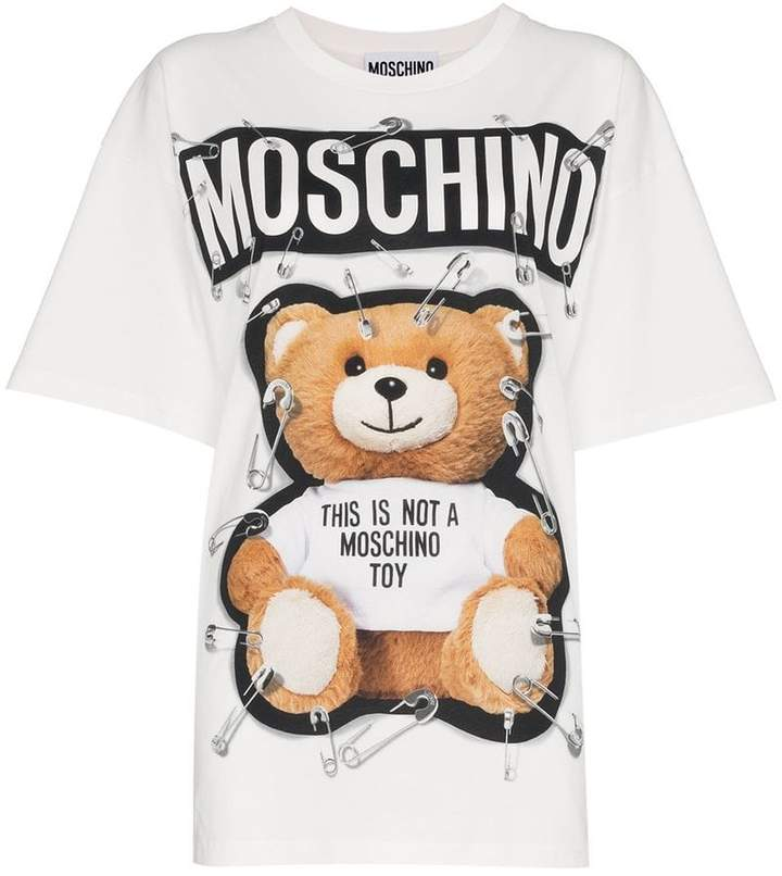 Moschino Teddy logo print t shirt