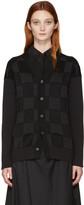 Junya Watanabe Black Checkered Cardigan
