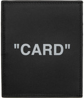 Black Quote Card Holder