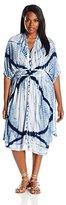 Lucky Brand Women's Plus-Size Tie Dye Audrey Dress