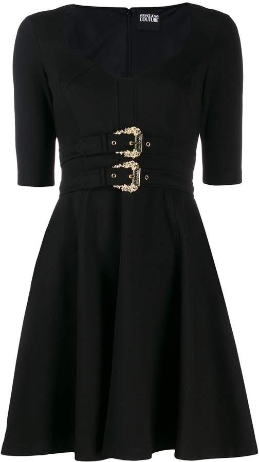Versace double-buckle dress