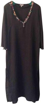 Emamo Black Linen Dress for Women