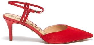 Sam Edelman 'Javin' ankle strap suede pumps