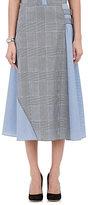 Gauchere Women's Checked Wool Midi-Skirt-GREY