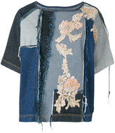 Antonio Marras embroidered denim top - women - Cotton - 42