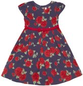 Beberose JoJo Maman Cord Party Dress (Toddler/Kid) - Navy-4-5 Years