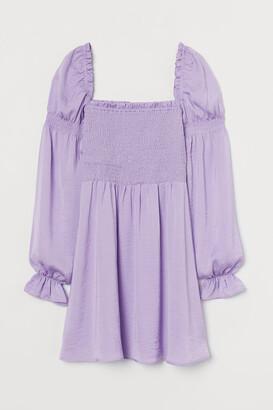 H&M Smock-detail Dress - Purple