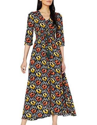 Joe Browns Womens Vintage Florals Button Up Maxi Dress Blue