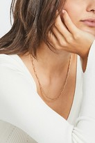Free People Delicate Chain Necklace by Free People, Silver Herringbone, One Size