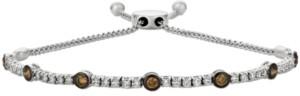 LeVian Le Vian Vanilla Diamond and Chocolate Diamond Bolo Bracelet (1-1/6 ct. t.w.) in 14k White Gold