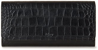 Mulberry Continental Wallet Black Soft Printed Croc