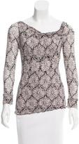 Diane von Furstenberg Paisley Print Silk Top