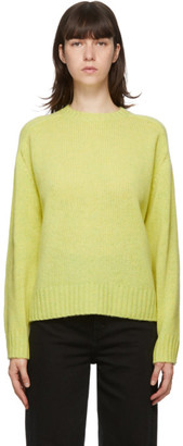 Acne Studios Yellow Shetland Wool Sweater