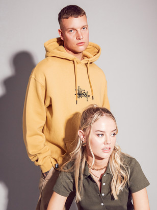 Stussy Graffiti Hoodie in Orche Yellow