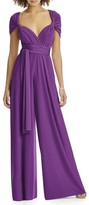 Dessy Collection Plus Size Women's Convertible Wide Leg Jersey Jumpsuit