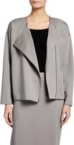 Eileen Fisher Flex Lyocell Ponte Zip-Front Jacket