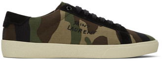 Saint Laurent Green Signa Camo SL/06 Sneakers