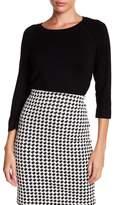 Philosophy Apparel 3/4 Length Sleeve Pointelle Knit Sweater