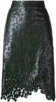 House of Holland lace overlay wrap skirt