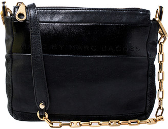 Marc by Marc Jacobs Black Leather and Nubuck Crossbody Bag