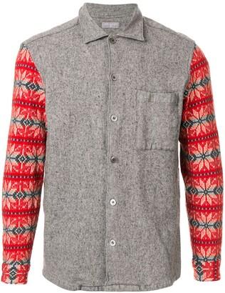 Comme Des Garçons Pre-Owned Christmas pattern sleeve shirt
