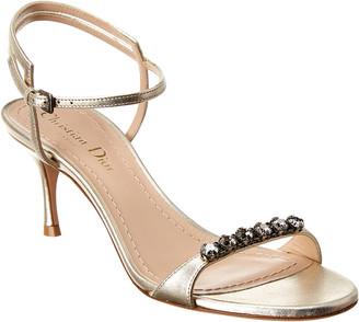 Christian Dior Metallic Leather Sandal